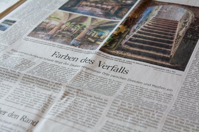 """""""Farben des Verfalls"""" in den Dresdner Neuesten Nachrichten"""